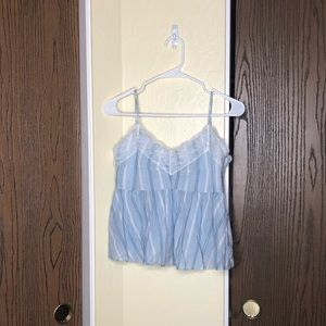 Zara TRF Collection | Baby Blue Intimates Blouse |